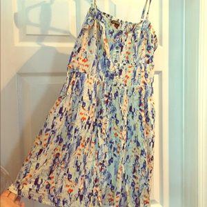 Express mini dress, teal pattern, size small
